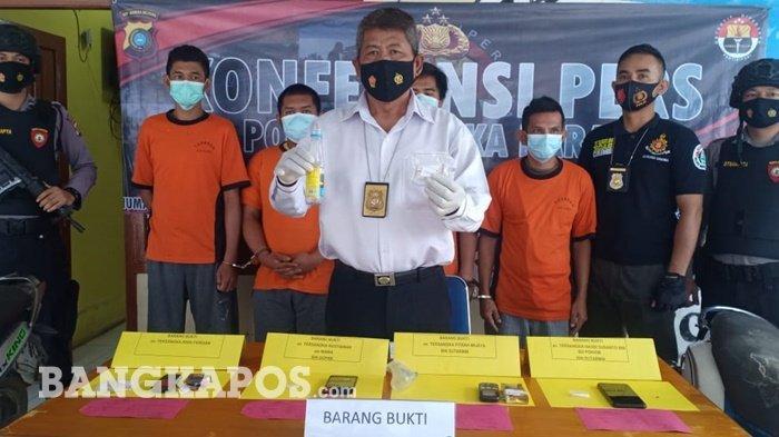 Polres Bangka Barat Bekuk Empat Pelaku Jaringan Narkoba, Amankan Barang Bukti 15,16 Gram Sabu