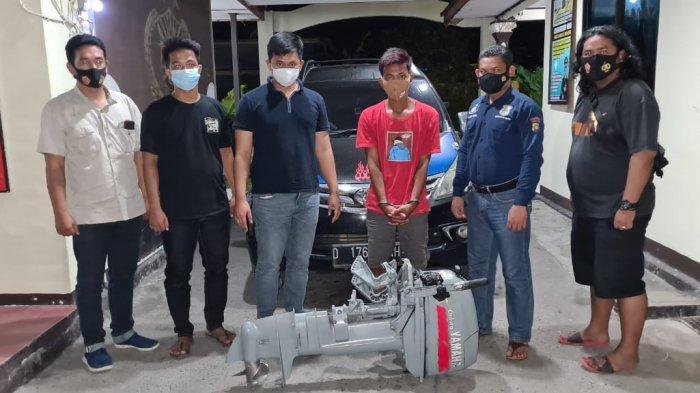 Pencuri Mesin Kapal di Pelabuhan Kampung Tanjung Batu Dibekuk Polsek Belinyu, Dua Pelaku Masih Buron