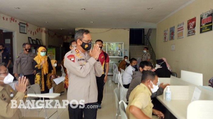 Kapolda Bangka Belitung Utamakan Anggota Lapangan Utama yang Divaksin, PNS Polri Nomor Dua
