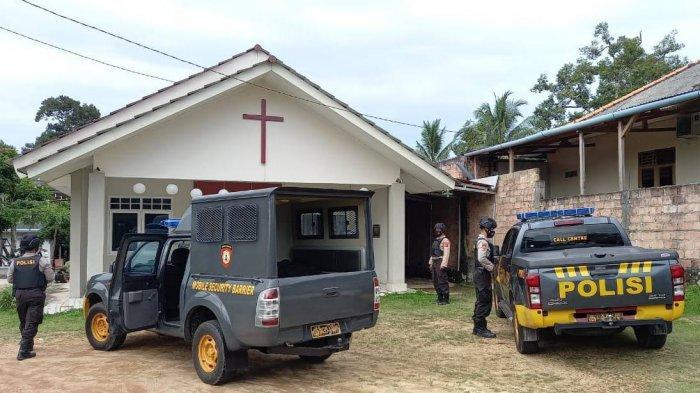 Mulai Sore Ini, 81 Personel Samapta Polres Bangka Selatan Disiagakan di Gereja