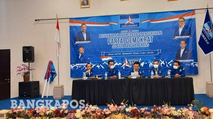 Kubu Moeldoko Ditolak Kemenkumham, DPC Partai Demokrat Pangkalpinang Gelar Musancab Rapatkan Barisan