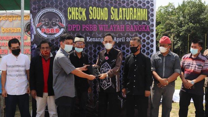 Sekda Bangka, Andi Hudirman menghadiri kegiatan Check Sound Silahturahmi yang diadakan Paguyuban Sound Bangka Belitung (PSBB) Kabupaten Bangka