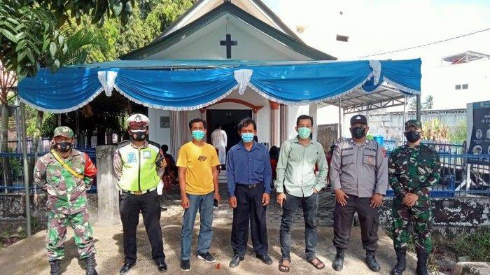 Polisi dan TNI Jaga Pengamanan Jumat Agung di Bangka Selatan, Turut Imbau Penerapan Prokes