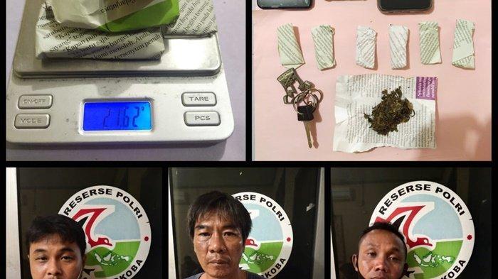 Pengedar Narkoba Dibekuk Di Hutan Wisata Kota Sungailiat, Polisi Amankan Tujuh Paket Ganja