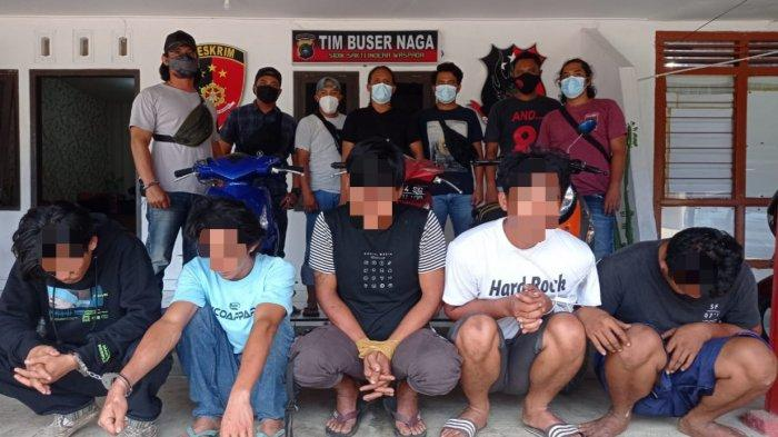 Tim Naga Polres Pangkalpinang, Ringkus Lima Orang Pencurian Besi Bekas, Satu Perempuan DPO