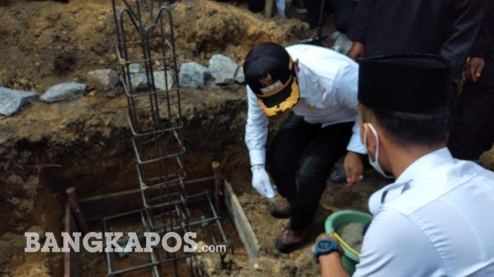 Bupati Bangka Letakkan Batu Pertama Padepokan PSHT Belinyu