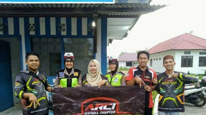 Komunitas Aerox 155 Riders Club Indonesia (ARCI) Bangka Chapter saat menggelar Touring amal dan bakti sosial.
