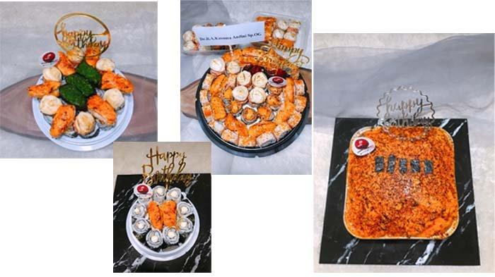 Sushi Cake untuk merayakan ulangtahun