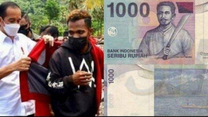 Fransiskus Tercengang, Jaket Merah Pemberian Jokowi Terselip Uang Rp 1.000 Bergambar Pattimura