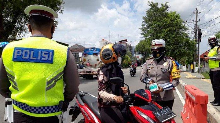 Knalpot Racing Jadi Sasaran Satlantas Polres Pangkalpinang di Operasi Keselamatan Menumbing 2021