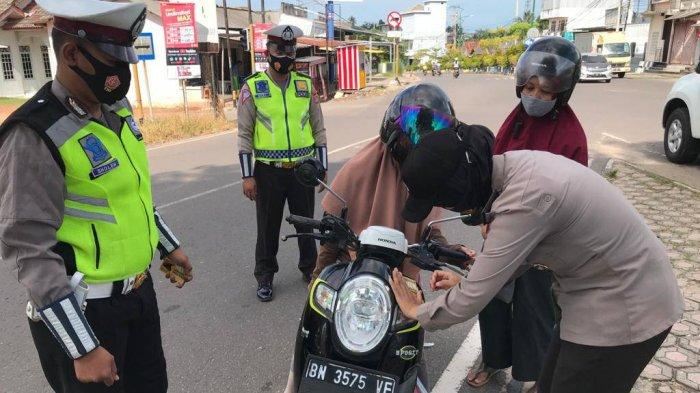 Satlantas Polres Bangka Selatan Gelar Operasi Menumbing, Sasar Prokes hingga Pelanggaran Lalu Lintas