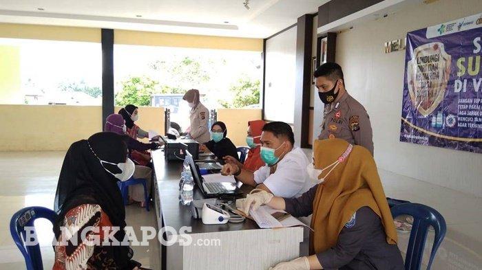 183 Bhayangkari Polres Bangka Selatan Ditargetkan Terima Vaksinasi, 51 di Antaranya Sudah Divaksin