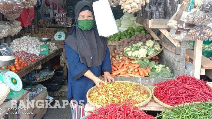Segini Harga Cabai dan Bawang di Pedagang Pasar Pangkalpinang