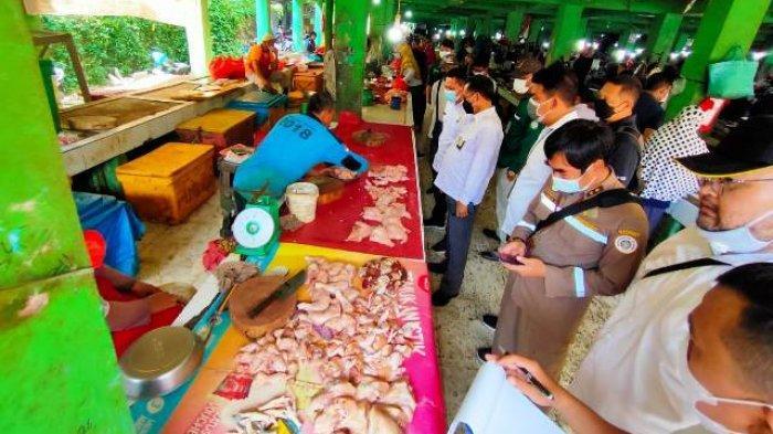 Sidak ke Pasar Pagi Pangkalpinang, Satgas Pangan Babel Temukan Harga Daging Sapi di Atas HET