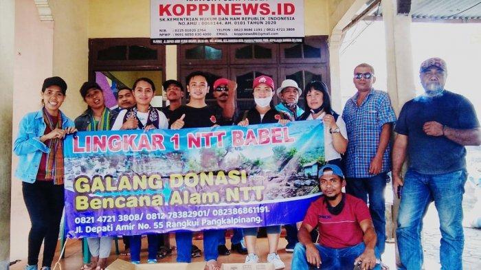 Peduli Tanah Kelahiran Lingkar Satu NTT Babel Gandeng Kompak Galang Dana Bencana NTT