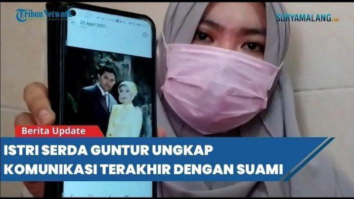 Video Call dengan Istri, Serda Guntur Minta Doa Sebelum KRI Nanggala-402 Hilang di Laut Bali