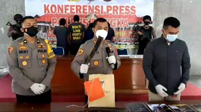 Polres Bangka Tetapkan Tersangka Pembunuhan di Mendobarat Hanya 4 Orang, Satu Wajib Lapor