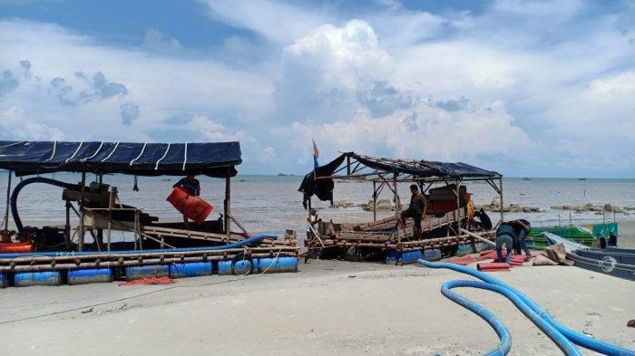 Satgas Gakkum II PAM PIP Laut Sukadamai Amankan Dua Unit Ponton Selam Liar dan Pemiliknya