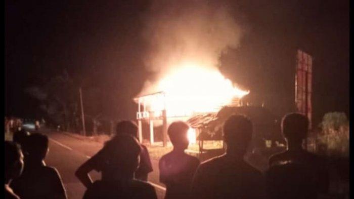 Pelaku Pembakaran Rumah di Desa Pangkalniur Melarikan Diri