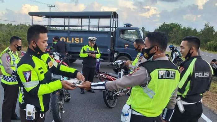 Polisi Bubarkan Balap Liar Lintas Timur Bangka, 7 Motor Kena Tilang, Satu Diamankan