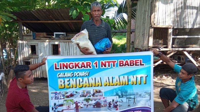 Warga Lembata Korban Bencana, Ucap Terima Kasih Dapat Bantuan Lingkar Satu NTT Babel