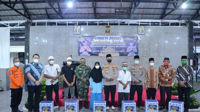 Kapolda Safari Ramadan di Polres Bangka, Anang: Ada yang Pakai Masker tapi Digantung di Dagu
