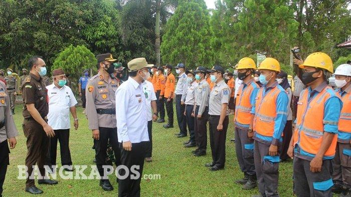 Gelar Apel Pasukan Operasi Ketupat Menumbing, Polres Bangka Tengah Dirikan Lima Titik Pos Pengamanan