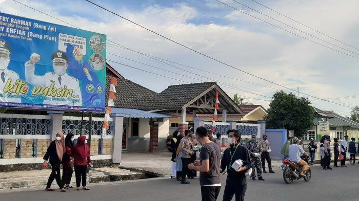 Semarak HUT ke-255 Kota Sungaiselan, Ormas Kepemudaan bersama TNI Polri Bagikan 1001 Masker