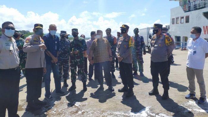 Kapolda Bangka Belitung Awasi Pelabuhan di Bangka Barat, Tindak Tegas Pemudik Nekat