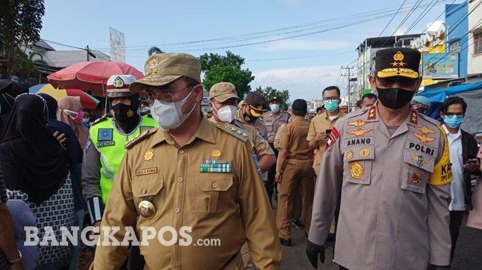 Kapolda Bangka Belitung Sesalkan Masih Banyak Temukan Pelanggaran Prokes di Pasar Pagi Pangkalpinang