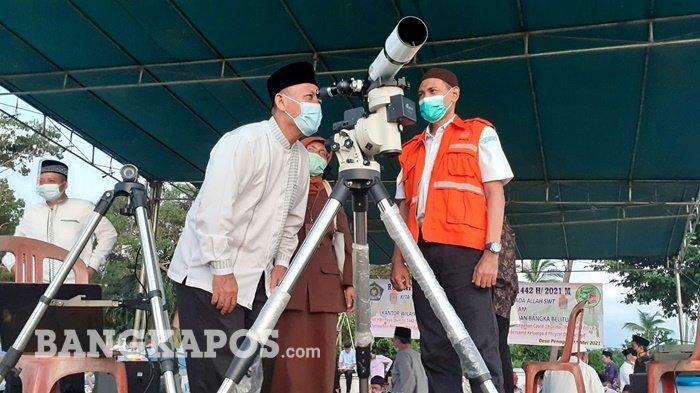 PantauanRukhiyat Hilal 1 Syawal dari Desa Penagan Hari Ini, Hilal Masih di Bawah Ufuk