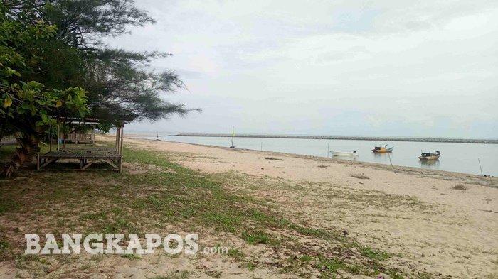 Pantai Terentang di Kabupaten Bangka Tengah