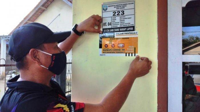 67 Rumah Warga di Bangka Selatan Dilabeli Stiker Rumah Isolasi Mandiri