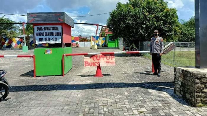 Polres Bangka Tengah beserta Tim Gabungan saat melakukan pengaman dan pemantauan di Objek Wisata Bangka Tengah, Sabtu (15/5/2021).