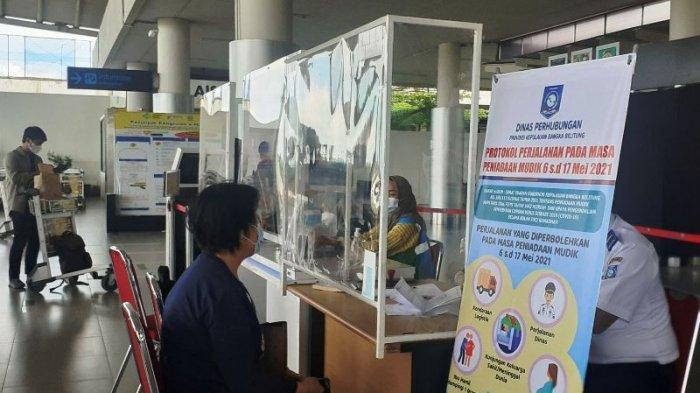 Satu Maskapai Mendarat di Bandara Depati Amir Siang Ini, Penumpangnya Akan Rapid Test Ulang