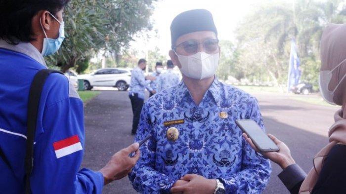 Bupati Bangka Tengah, Algafry Rahman usai pelaksanaan Apel, Senin (17/5/2021).