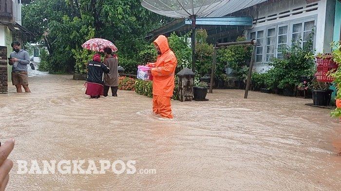 Diguyur Hujan Deras, Sejumlah Wilayah di Bangka Belitung Terendam Banjir - 20210518-banjir-kampung-ulu.jpg