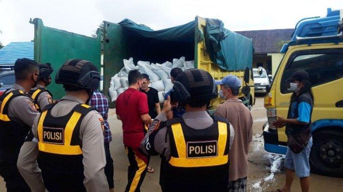 Polisi Amankan Truk Angkut 9 Ton Pasir Timah, Sopir Mengaku Hanya Antar, Polisi Selidiki Dokumen