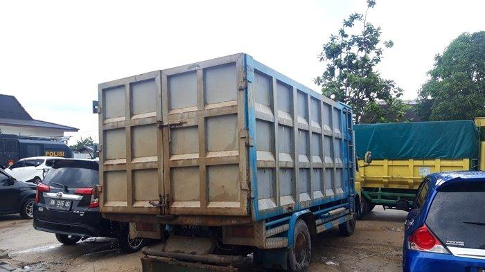 Truk Bermuatan 8 Ton Diduga Tailing Pasir Timah Diamankan di Polres Pangkalpinang