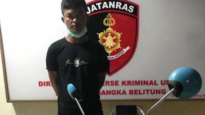 Sabek, Residivis Pencurian di Mendo Barat Ditangkap Polisi, POCO X3 Curian Dijual Rp700 Ribu