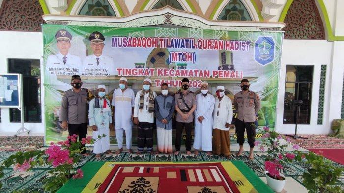 Hari pertama Jadi Kapolsek Ipda Reza Langsung Sosialisasi Cegah Covid-19 di Masjid Al Muhajirin