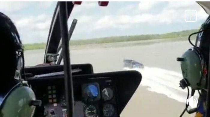 EKSKLUSIF Helikopter Polri Kejar Kapal Hantu di Perairan Sumatera-Babel, Diduga Bawa Barang Ilegal