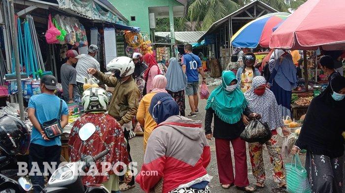 Pasar Dipadati Pengunjung, Meli Tak Khawatir Covid-19, Terpenting Terapkan Prokes