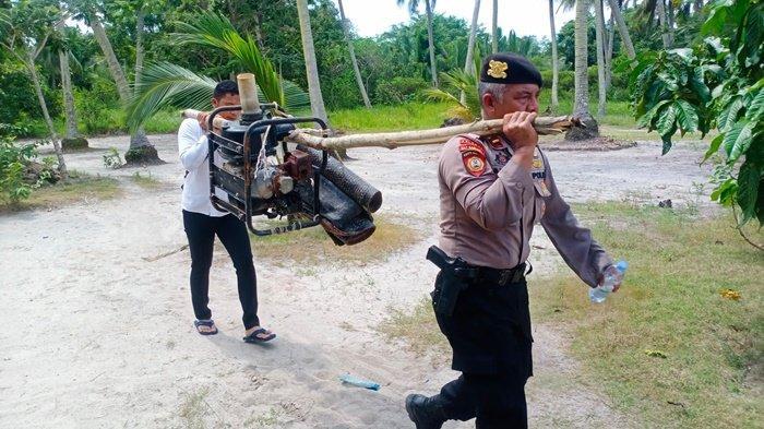 Polres Bangka Tertibkan Tambang di Jalan Laut Sungailiat, Satu Unit Mesin TI Diamankan