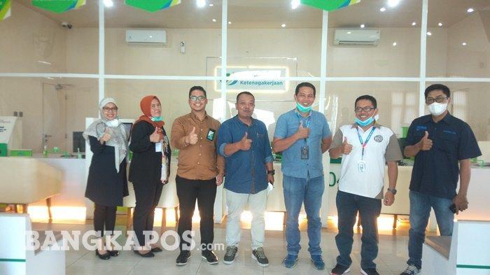 Jalin Silaturahmi, Jajaran Redaksi Bangka Pos Sambangi Kantor BPJS Ketenagakerjaan Pangkalpinang