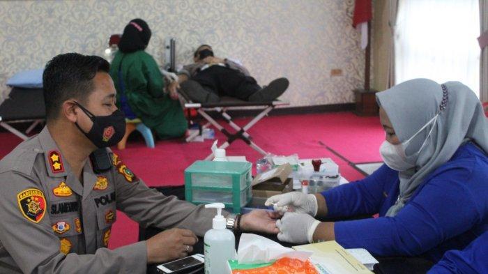HUT ke-75 Bhayangkara, Polres Bangka Tengah Gelar Donor Darah, Kumpulkan 43 Kantong Darah