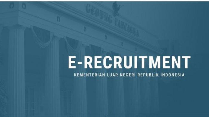 Tangkapan layar laman e-recruitment di situs Kementerian Luar Negeri (Kemenlu) 2021.(e-cpns.kemlu.go.id)