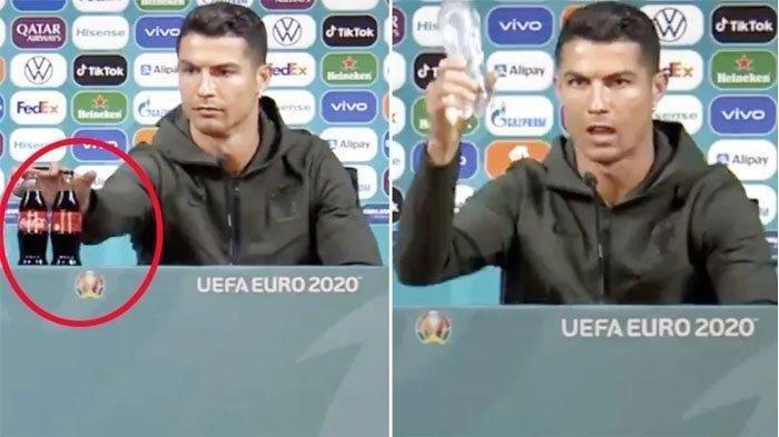 Salahkah Cristiano Ronaldo? Singkirkan Botol Coca Cola dan Efeknya Saham Sponsor Euro 2020 Itu Turun