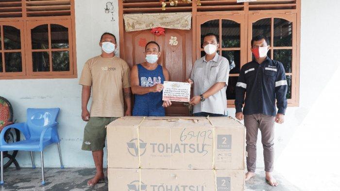KUB Bahari Lautan Samudera Terima Bantuan Mesin Tempel dari PT Timah