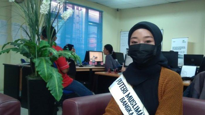 Puput Marshanda Puteri Muslimah Nusantara Bangka Belitung 2021 Rasakan Manfaat Memakai Masker